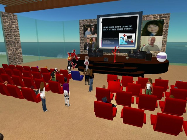 Using Second Life's 3D Online World to Train Online Students
