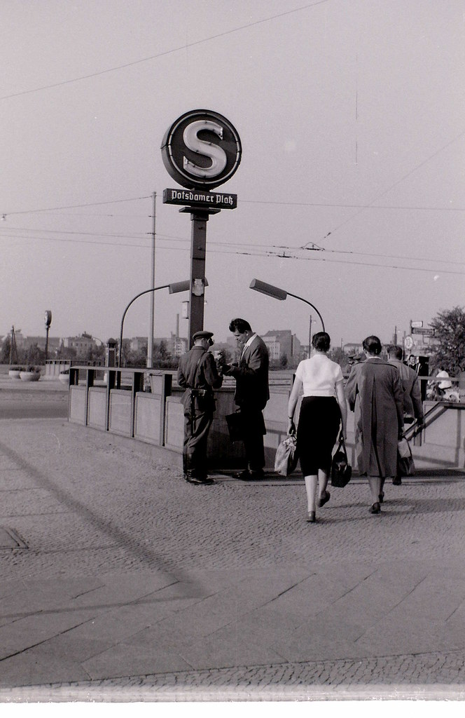Border checks at Potsdamer Platz, East Berlin, 9 September 1959