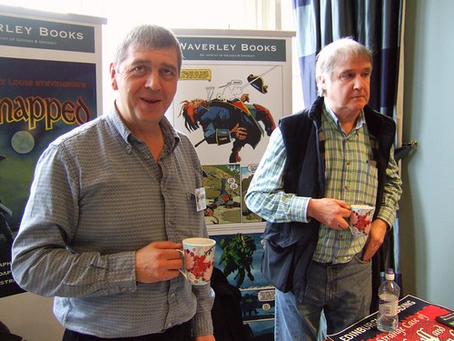 Ron Grosset and Cam Kennedy on the Waverley Books stand
