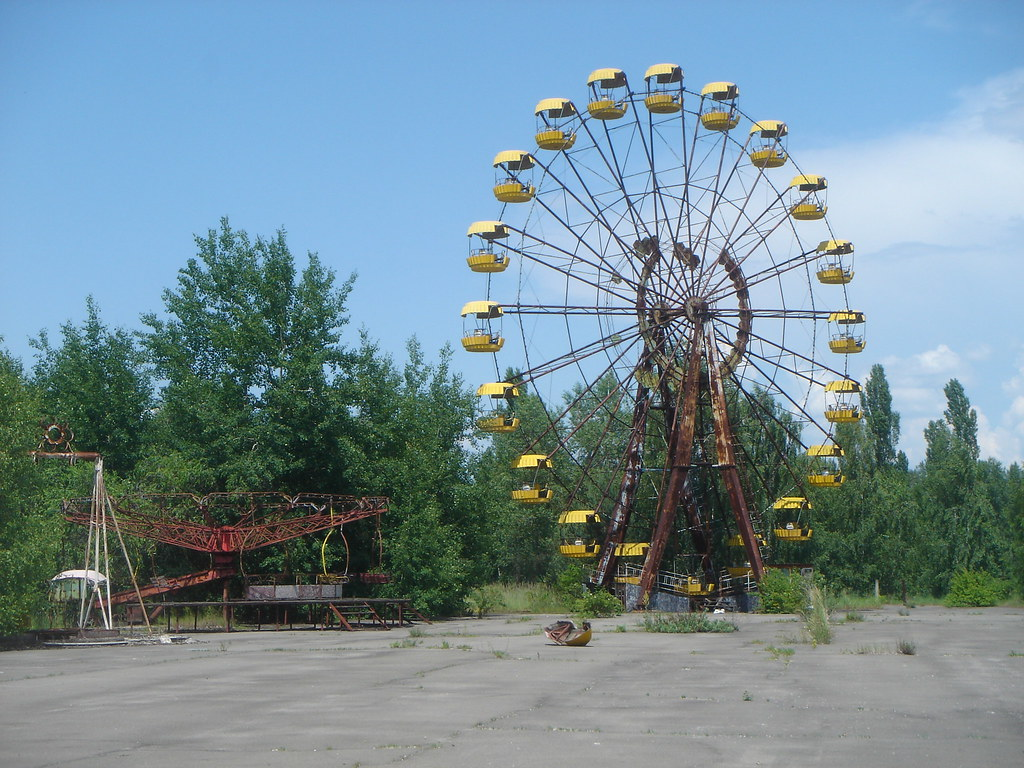 The deserted amusement park in Pripyat, in the Chernobyl exclusion zone.