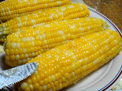 sweet corn(1.0), food grain(1.0), corn kernels(1.0), side dish(1.0), vegetarian food(1.0), maize(1.0), corn on the cob(1.0), produce(1.0), food(1.0), corn on the cob(1.0), dish(1.0), cuisine(1.0),