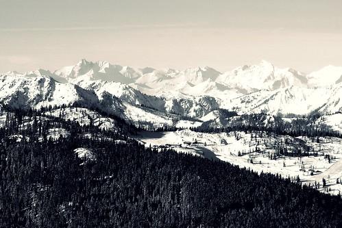 alps mountains snow winter reiteralm styria salzburg austria europe cold monochrome canon powershot g7x mark ii scenery landscape view trees outdoor ski trip ngc hohe tauern peaks range grossglockner g7xmarkii