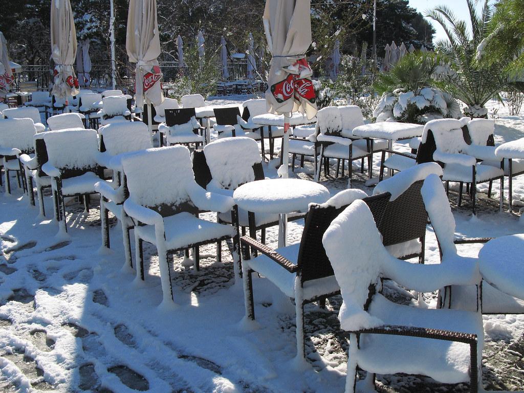 ATHENS, SNOW