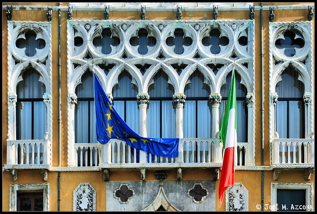 Venecia (Italia). Palazzo Ca' Foscari (Detalle de las ventanas)