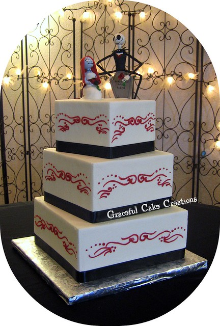 Nightmare Before Christmas Wedding Cake | Flickr - Photo ...