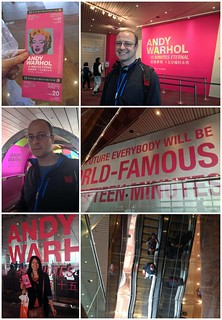 Mei and Dan outside the Andy Warhol exhibition