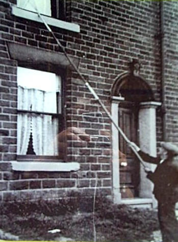 Oldham Knocker up with his Pole Old Photograph