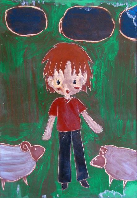 儿童刻板画图片素材