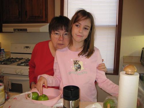 Baking with Nana on Xmas Eve