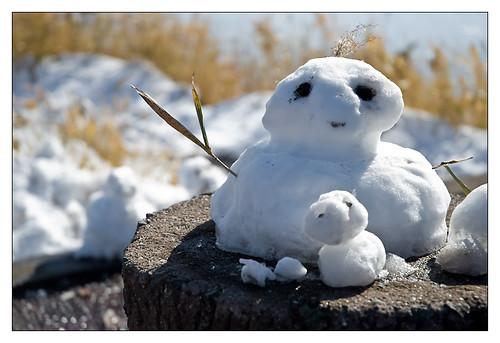 Mt Aso - Snowmen by YoAndMi