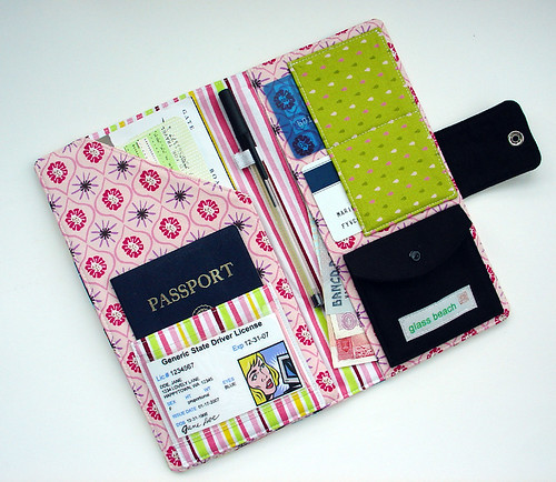 Passport Wallet-Kokeshi Dolls (Interior)