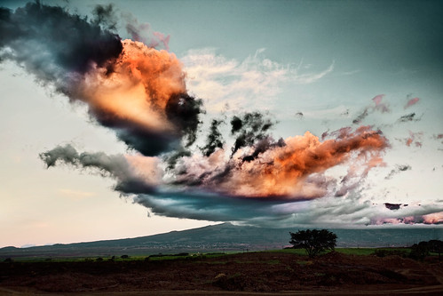 sunset clouds landscape hawaii maui haleakala upcountry villagefour