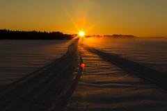 Sunrise in Lake Syväri in Tahko
