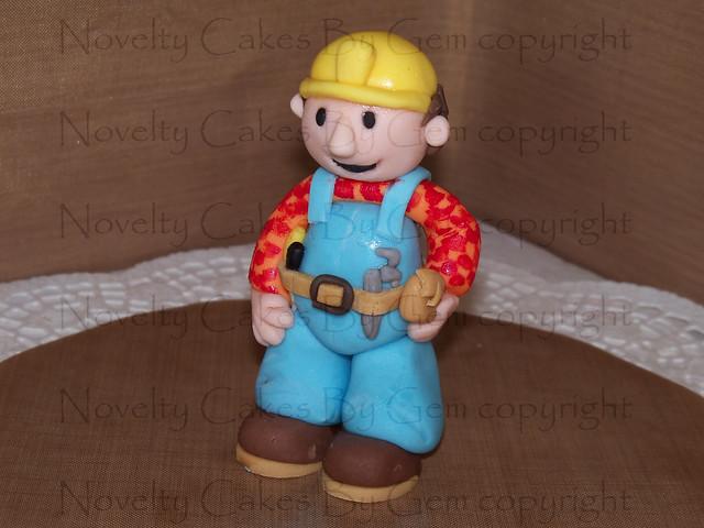 How To Make A Bob The Builder Cake Topper
