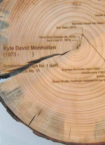 """Kyle Monhollen """"Dendrochronograph No. 1 (Self)"""""""