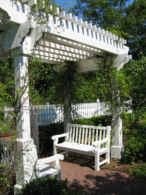 Garden Entry Arbor With Bench Flickr Photo Sharing