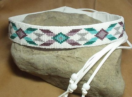 Western Rodeo Style Loom Beaded Hat Band Add This