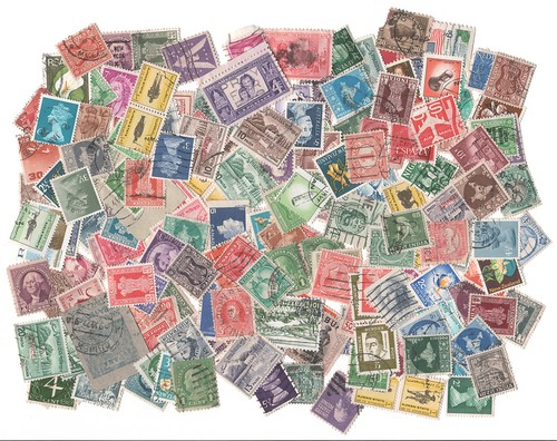 An old stamp  collection.