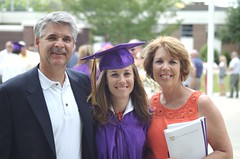 Erin's graduation: mom and dad