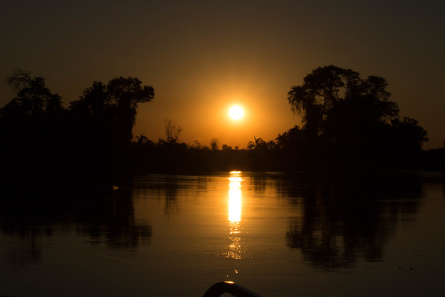 Sunset on the Okavango River