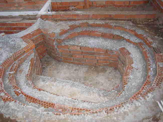 de la construccin de mi estanque de obra (cemento y ladrillos) paso ...