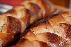 dessert(0.0), baking(1.0), tsoureki(1.0), bread(1.0), baked goods(1.0), challah(1.0), food(1.0), bread roll(1.0), viennoiserie(1.0), dish(1.0), cuisine(1.0), brioche(1.0), baguette(1.0), danish pastry(1.0),