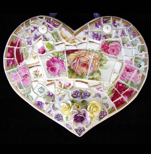 Broken China Mosaic Heart | Flickr - Photo Sharing!
