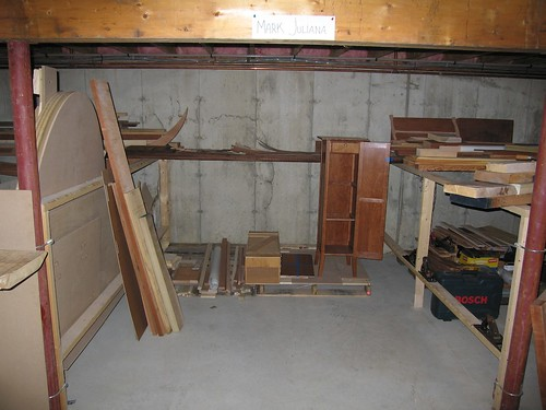 My bay in the storage basement