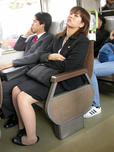 Sleeping Office Girl  Look At Her Left Foot That Cant -8632