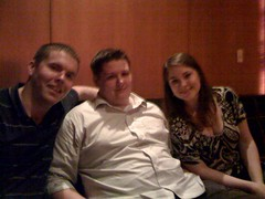 Kelly, Brandon and me at the Makers Mark lounge