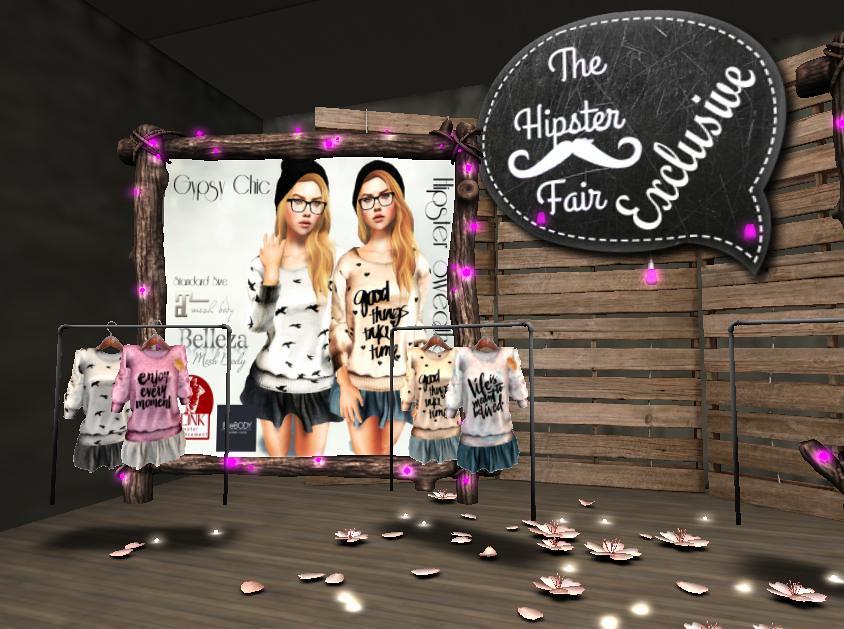 Exclusive Items & Gacha AT Hipster Fair 2017 - SecondLifeHub.com