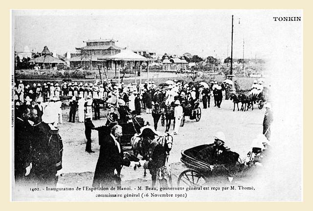 TONKIN - HANOI - Inauguration de l'exposition - 16 novembre 1902 - Lễ khai mạc Đấu xảo Hà Nội 16-11-1902