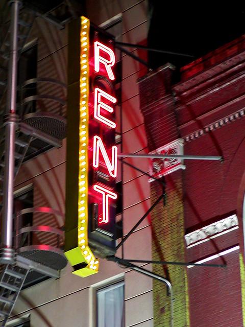 RENT Neon Sign