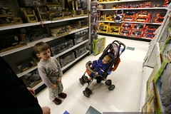 reviewing toys in the military aisle    MG 6714