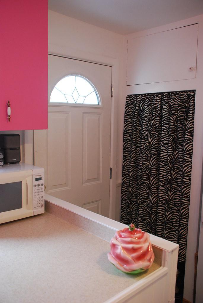 Coat closet in kitchen