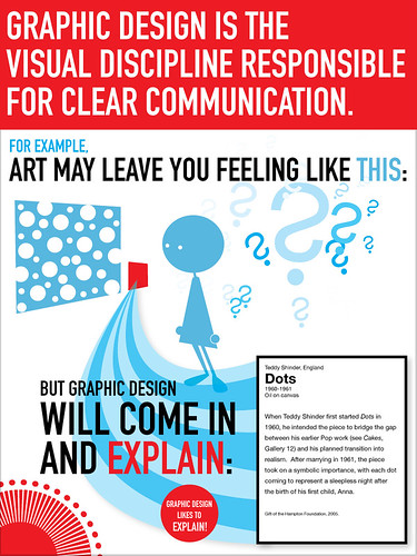 Graphic design is the visual discipline responsible for clear communication.