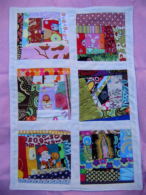 Wonky Scrap Doll Quilt