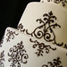 Damask piping close-up