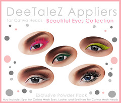 "Catwa Appliers ""Beautiful eyes Collection"""
