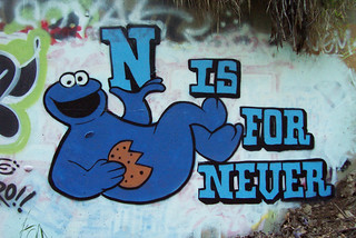 N is for Never Cookie Monster