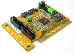 video card(0.0), sound card(0.0), tv tuner card(0.0), network interface controller(0.0), personal computer hardware(1.0), i/o card(1.0), microcontroller(1.0), electronics(1.0), computer hardware(1.0),
