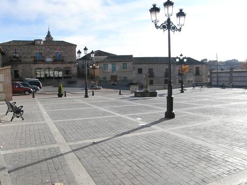 Plaza con luz