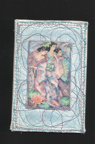 Three Maidens Fabric postcard by rosebudinnh