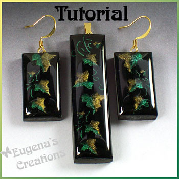 Faux Art Glass Set - Polymer Clay and Resin, New Tutorial