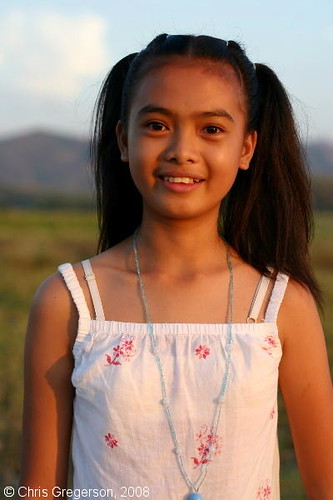 Ilocana Girl, Ilocos Norte Farm