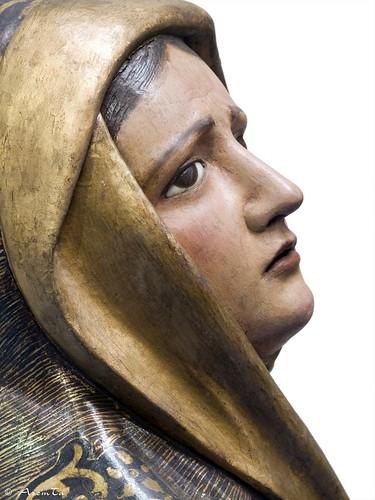 Virgen María del paso titular de la Cofradía del Descendimiento de Zaragoza