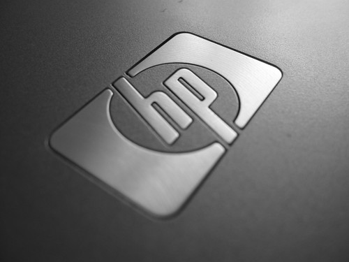 Canon PowerShot A590 IS Sample - Hewlett-Packard Logo (Macro)