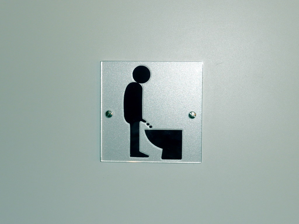 Armless people pee here