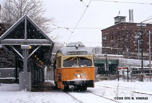 MBTA 3263 at Milton, MA, January 2006