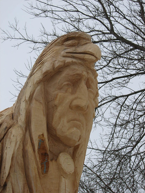 Native totem pole chainsaw carved flickr photo sharing